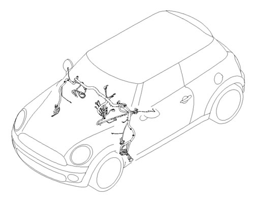 61129352549 MINI Cooper Replacement Wiring Harness