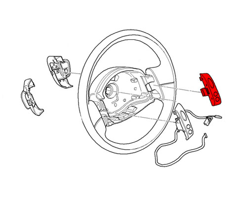 61316800897 MINI Cooper Replacement Steering Wheel: Cruise