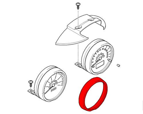 62116977371 MINI Cooper Replacement Steering Column Chrome