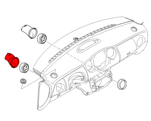 64220818861 MINI Cooper Replacement Cold Air Duct Outflow