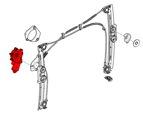67626955875 MINI Cooper Replacement Power Window Motor