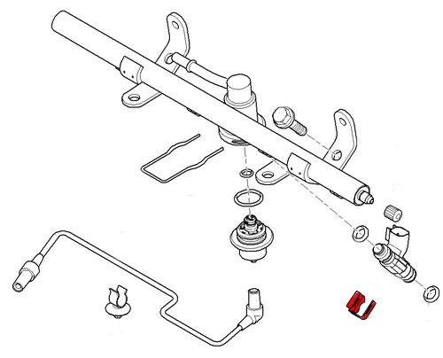13537528539 MINI Cooper Fuel Injector Retaining Clip