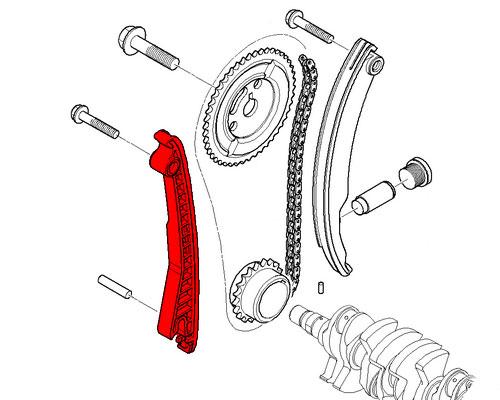 MINI Cooper Camshaft Timing chain Guide Rail 11311485397