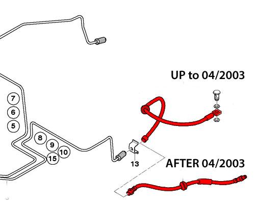 34306793611 34306760221 MINI Cooper Brake Line Hose: R50