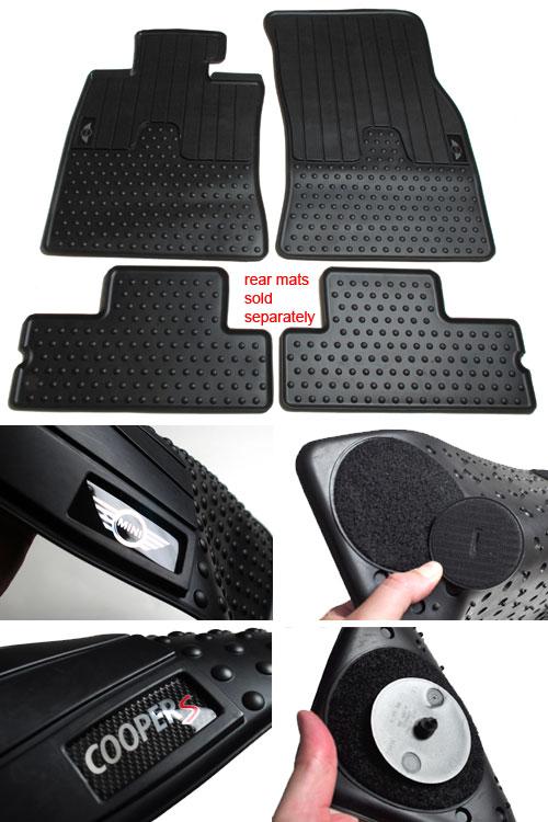 MINI Cooper Hatchback Rubber Floor Mats  MINI Cooper