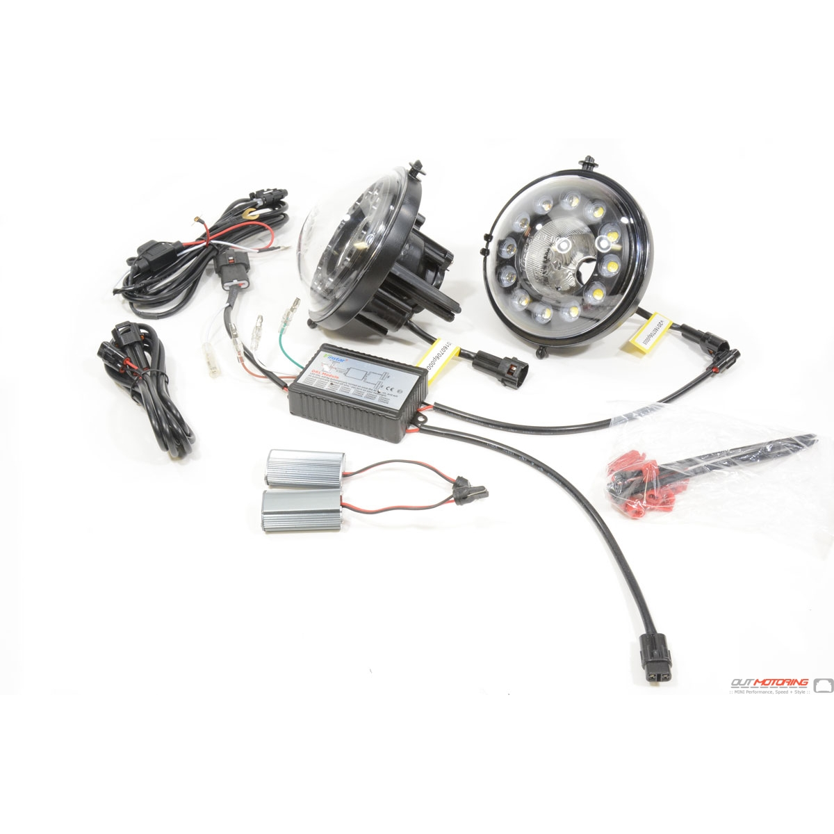 Mini Cooper Led Front Driving Light Kit Gen2 Metal