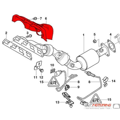 MINI Cooper Exhaust Manifold Heat Shield 51487511704