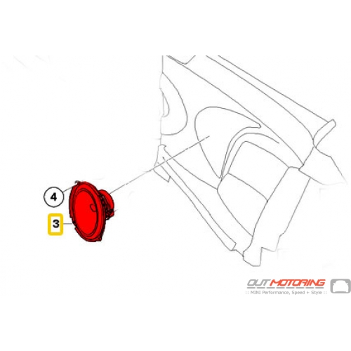 MINI Cooper R52 Harman Kardon Rear Speaker 65139143125