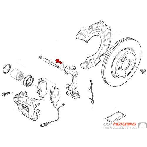 MINI Cooper Front Brake Caliper Carrier Bolt 34116772428