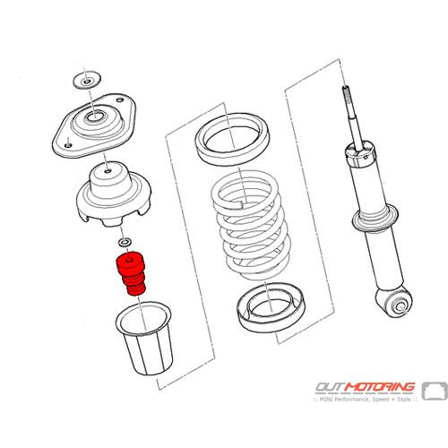 MINI Cooper Replacement Rear Shock Bump Stop 33531518391