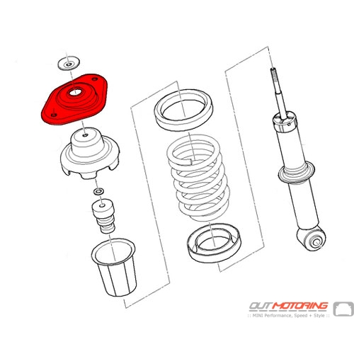 MINI Cooper Replacement Guide Support Upper Bushing