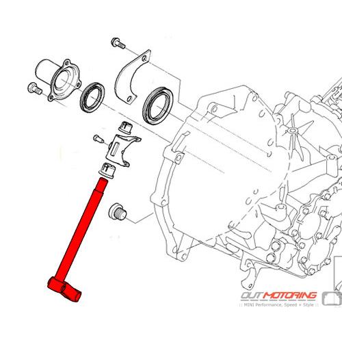 MINI Cooper Replacement Clutch Release Shaft 23117509742