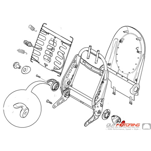 52107112447 52107112448 MINI Cooper R50 R52 R53 Seat Lever