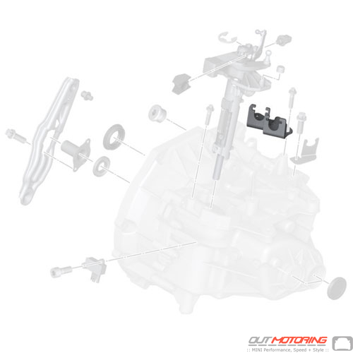 MINI Cooper Replacement Bowden Cable Bracket 23417568465