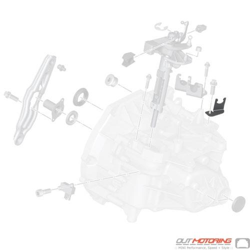 MINI Cooper Replacement Clutch Line Bracket 21526770601