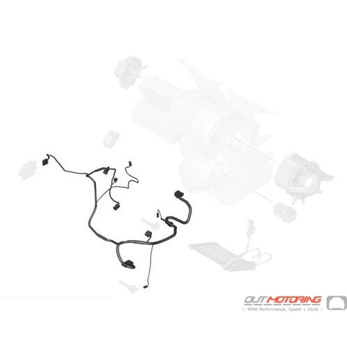 64119266885 MINI Cooper Replacement Heater/Air Wiring Set