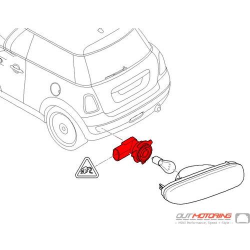 63247249647 MINI Cooper Replacement Bulb Socket: Rear Fog