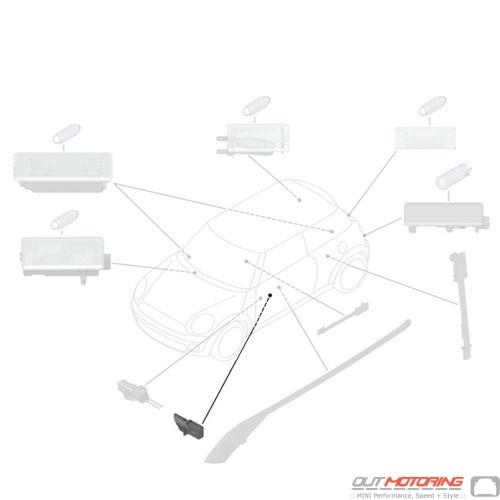63312754023 MINI Cooper Replacement Light Guide Inner Left
