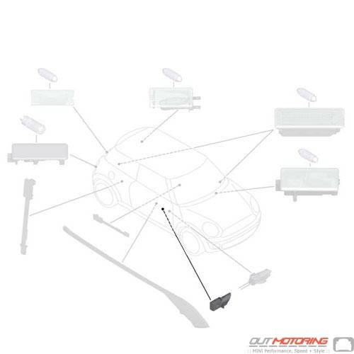 63312754024 MINI Cooper Replacement Light Guide Inner