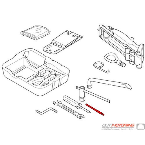 71102756866 MINI Cooper Replacement Torx Insert For Screw