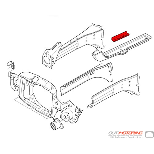 41117070667 MINI Cooper Replacement Engine Support