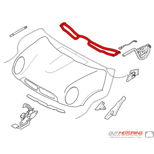 51717058137 MINI Cooper Replacement Sealing: Rear Engine
