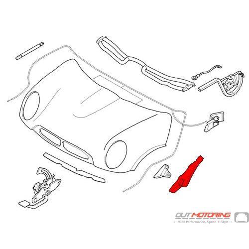 51236800799 MINI Cooper Replacement Engine Hood Guide
