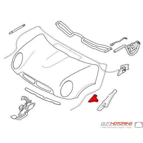 51236800798 MINI Cooper Replacement Engine Hood Guide