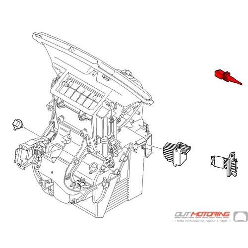 64116943846 MINI Cooper Replacement Evaporator Temperature