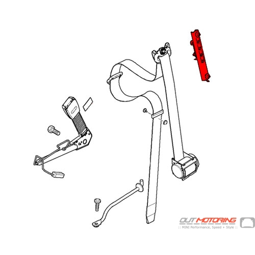 72117061253 MINI Cooper Replacement Seat Belt Height