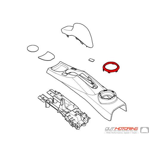 51167127912MINI Cooper Replacement Trim Ring: Parking