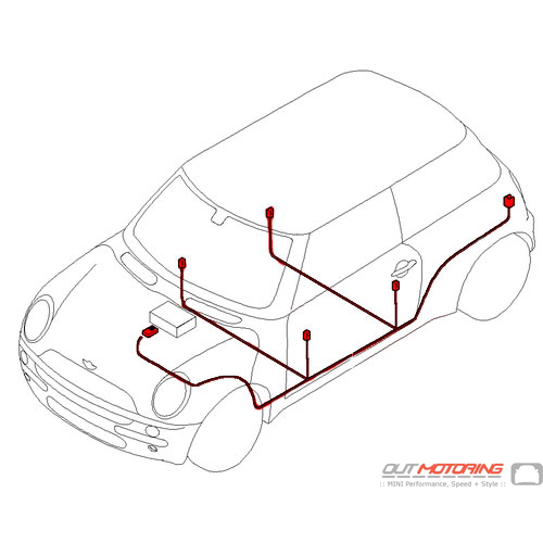 61116966373 MINI Cooper Replacement Audio Wiring Harness