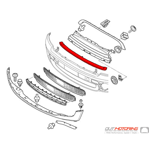 51112751623 MINI Cooper Replacements Grill Trim: Front