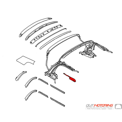 54342758090 MINI Cooper Replacement Cover: Right Center