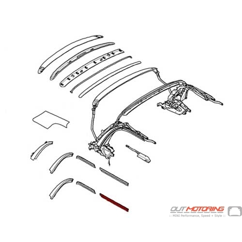 54342758100 MINI Cooper Replacement Gasket Front Right