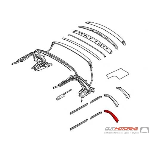 54342758111 MINI Cooper Replacement Gasket: Rear Left