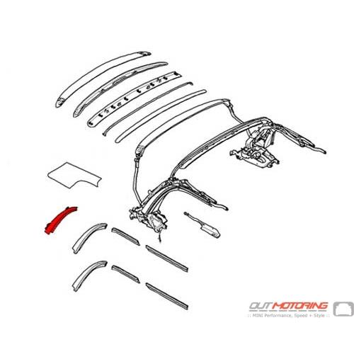 54347375976 MINI Cooper Replacement Main Column: Right