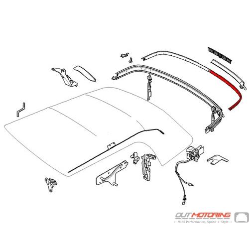 54347375319 MINI Cooper Replacement Convertible Folding