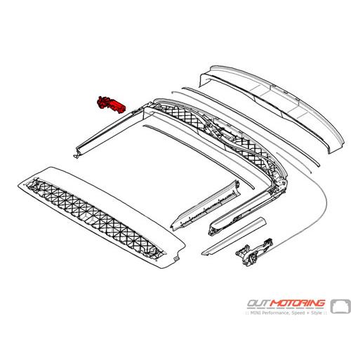 54342758446 MINI Cooper Replacement Folding Top Drive Unit