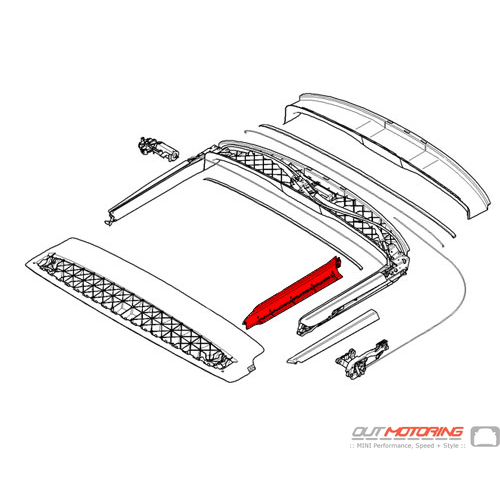 54342758093 MINI Cooper Replacement Covering: Inner Left