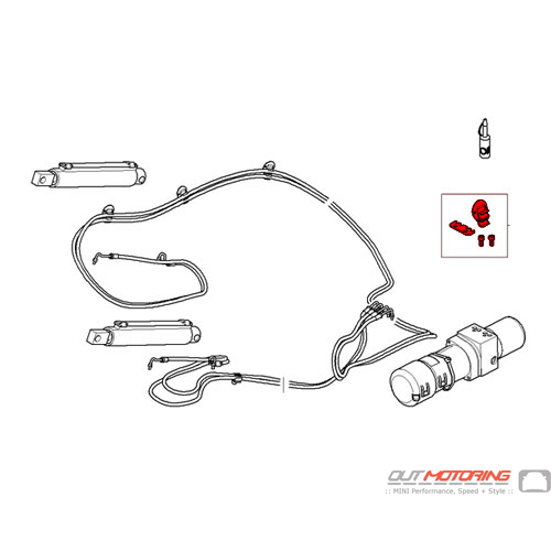 54342758428 MINI Cooper Replacement Hydraulic Lines
