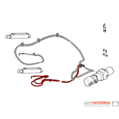 54342758426 MINI Cooper Replacement Hydraulic Pipe Lines