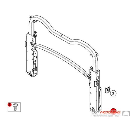 51217062145 MINI Cooper Replacement Torx-Bolt w/ Washer