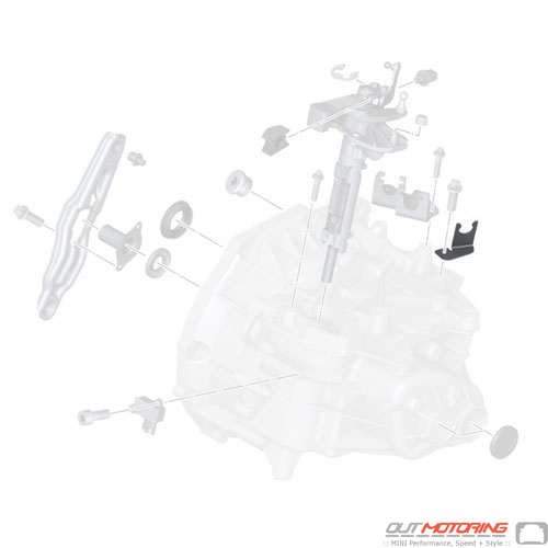 21526770599 MINI Cooper Replacement Clutch Line Bracket