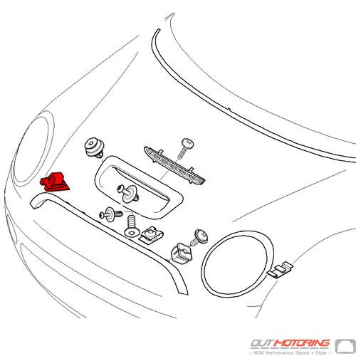 07149283157 MINI Cooper Replacement Clip W/ Seal Ring