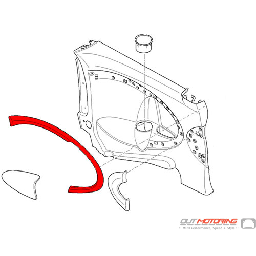 51432755981 MINI Cooper Replacements Cover: Lateral Trim