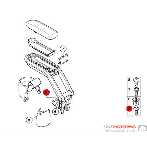 07146959826 MINI Cooper Replacement Fillister Head Screw