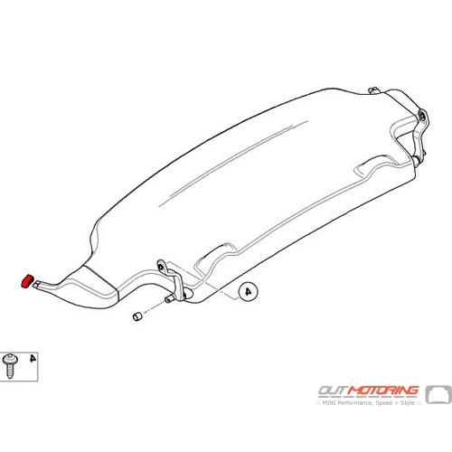 51462758501 MINI Cooper Replacement Rubber Buffer: Left