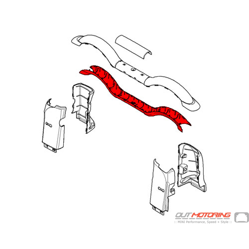 51462758283 MINI Cooper Replacement Rollover Bar Lower