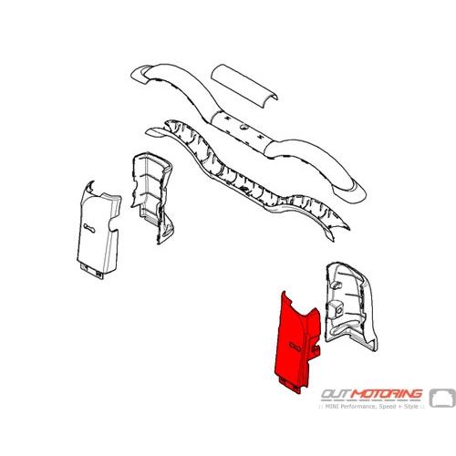51437309037 MINI Cooper Replacement Rollover Bar Trim